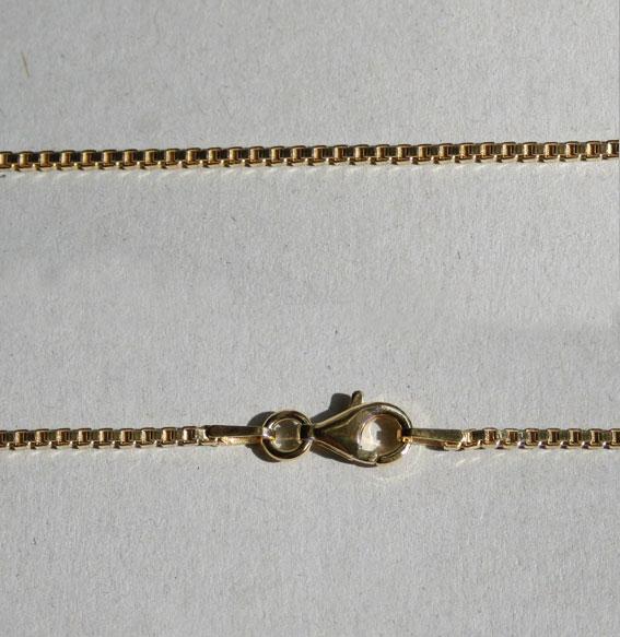 Venezianerkette 1,5 mm silber vergoldet