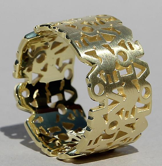 Silberring vergoldet  Liebesbrief