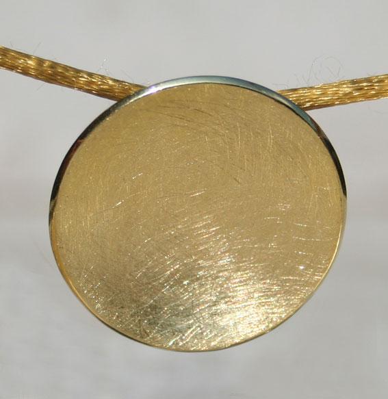 Silberanhänger Schale klein | vergoldet
