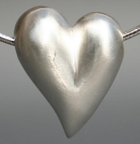 Silberanhänger Herz   Mittel
