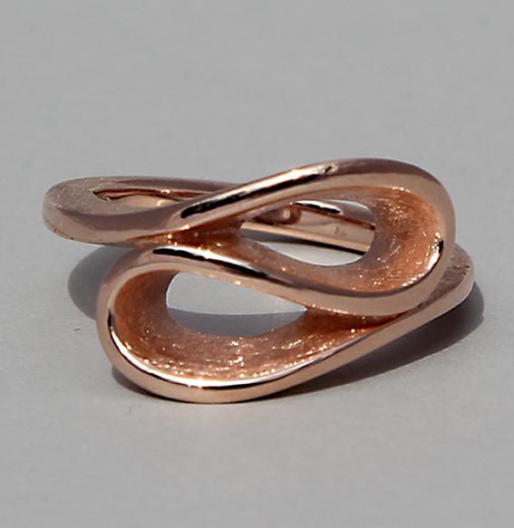 Silberring rosé vergoldet   Infinity