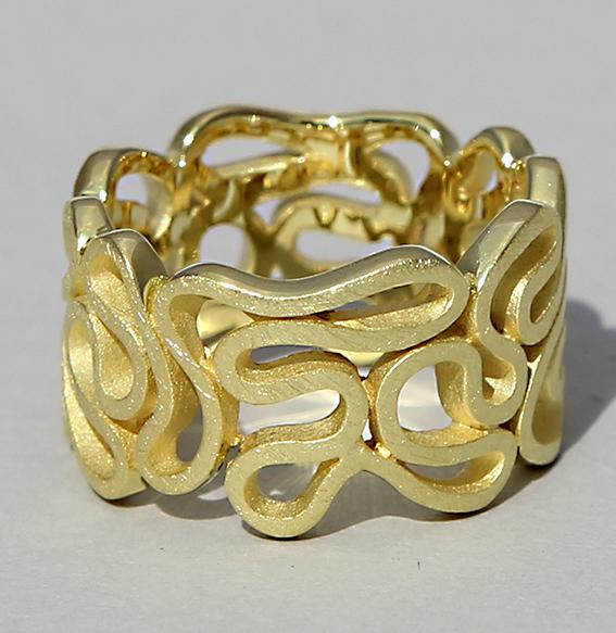 Silberring vergoldet   Ribbon