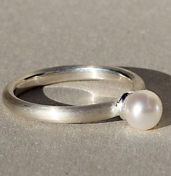 Silberring mit SWZ Perle | Lofty