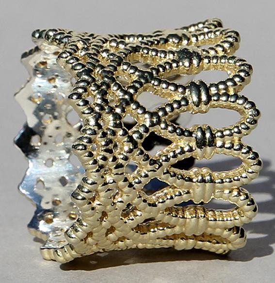 Silberring vergoldet | Krone
