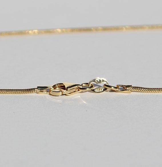 Schlangenkette vergoldet 1,2mm