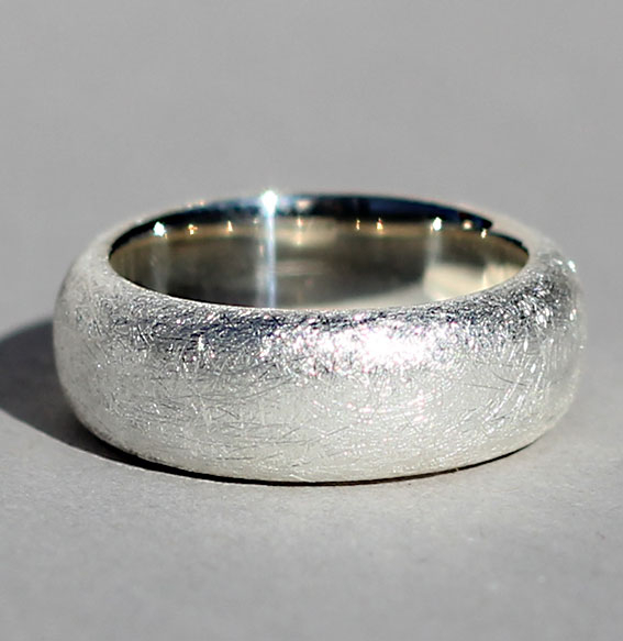 Silberring 8 mm   Band
