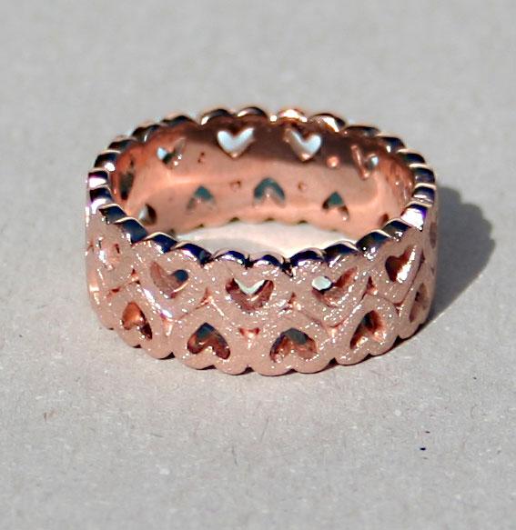 Ring -Heart band- schmal | rosé vergoldet