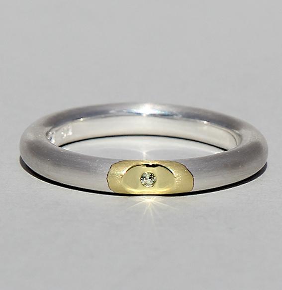 Silberring vergoldet mit Peridot | Lula