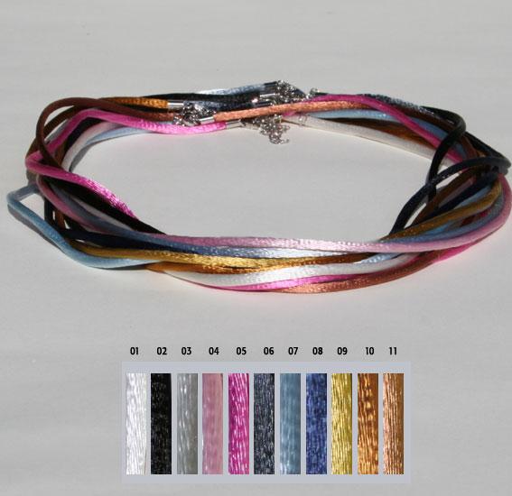 Seiden-Band, 2mm 80cm   VPE 3