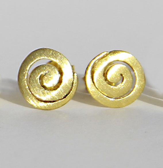 Spiral-Ohrstecker vergoldet   klein