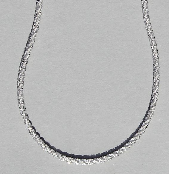 Criss-Cross-Kette silber, 1,6mm