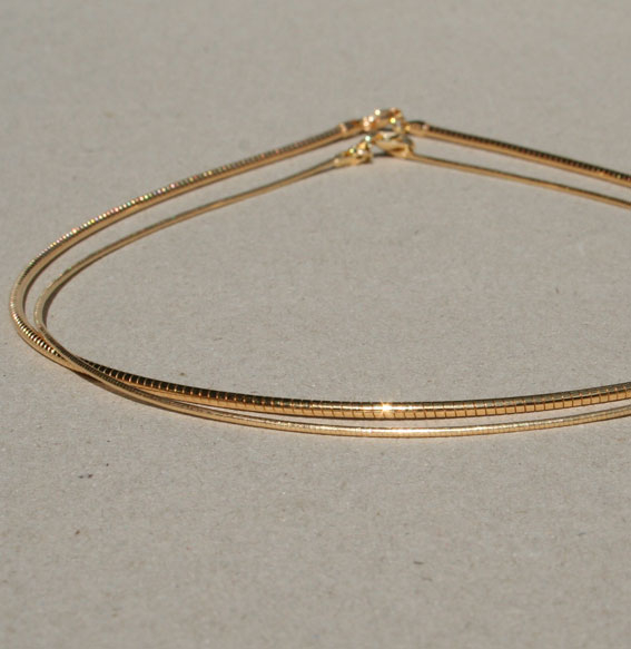 Omega-Halsreif-vergoldet | 1mm