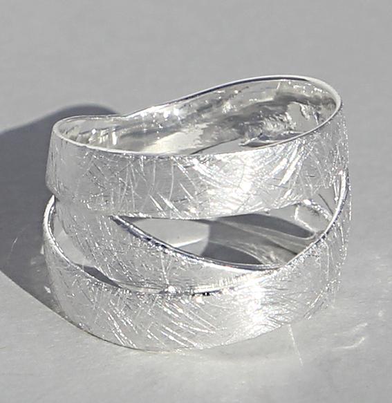 Silberring   Bänder