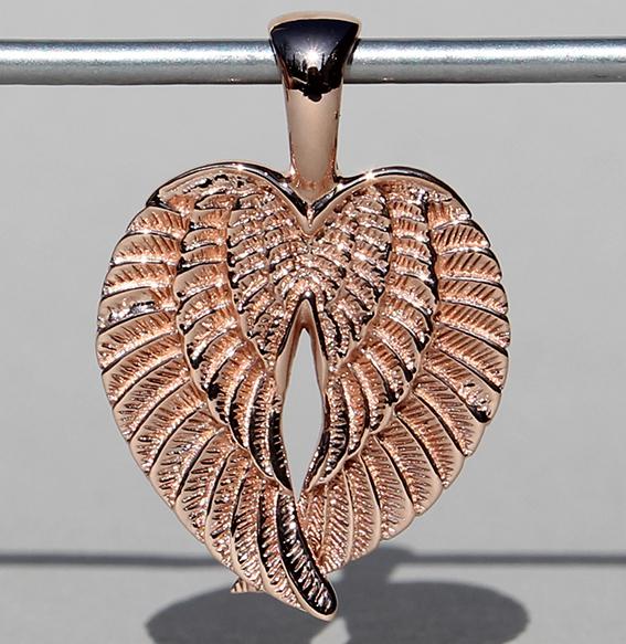 Silberanhänger rosé vergoldet | Flügel