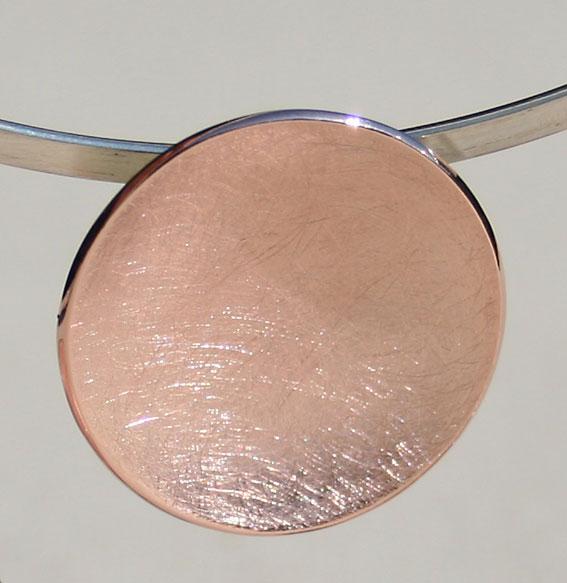 Silberanhänger Schale klein   rosé vergoldet
