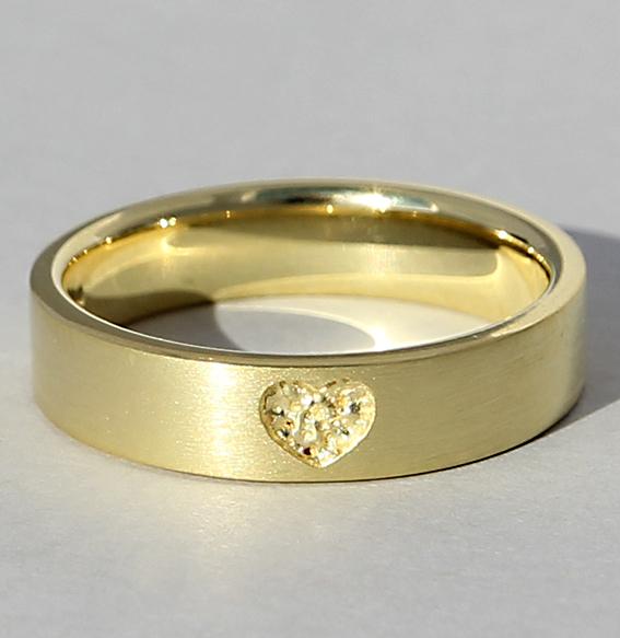 Silberring vergoldet   Love inside