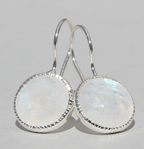 Silberohrhänger mit Mondstein | Spring sparkle