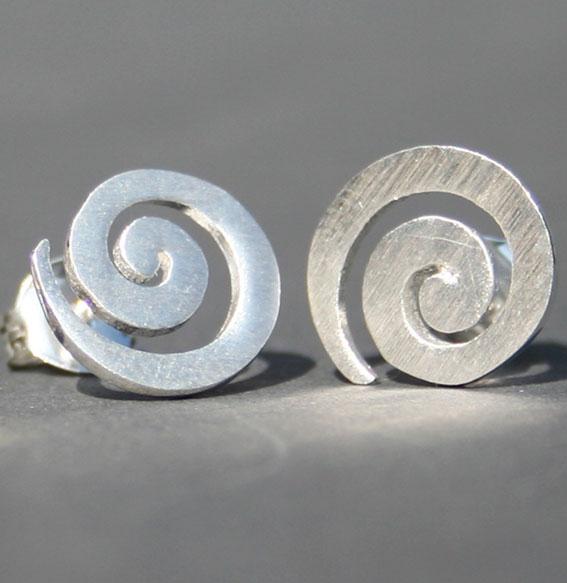 Spiral-Ohrstecker   groß