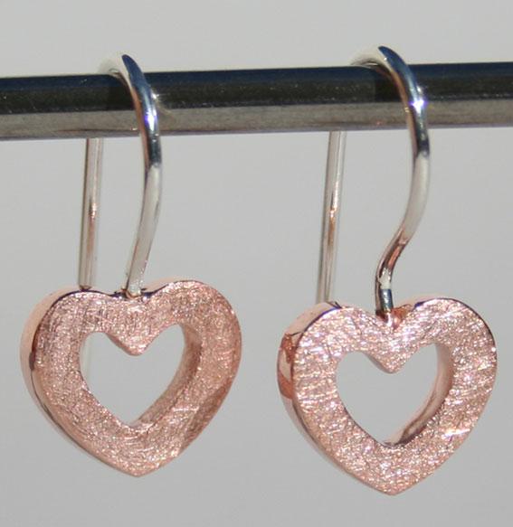 Ohrhänger -Heart-   rosé vergoldet