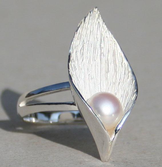 Silberring Hoffnung mit SWZ-Perle